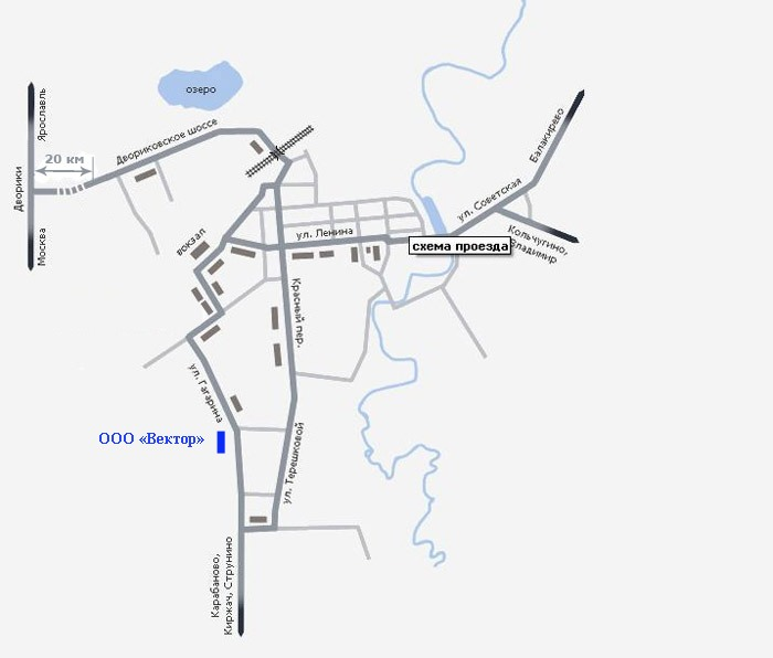 Карта проезда до предприятия